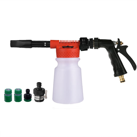 ALLCACA Professional Foam Wash Gun 900ML Car Wash Snow Foamer, Red - ALLCACA