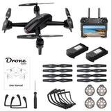 ALLCACA RC Drone 6-axis Gyro Quadcopter Optical Flow Positioning Drone with Double 720P HD Cameras Altitude Hold Headless Mode and 360° Flip Black - ALLCACA