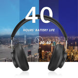 ALLCACA TS-1 Hi-Fi Headphones Wireless Headset On-ear Earphones, Detachable and Elastic Memory Earmuffs, Black - ALLCACA
