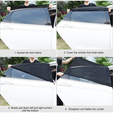 ALLCACA Universal Car Side Window Baby Kid Pet Breathable Sun Shade Mesh Backseat (2 Pcs) Fits Most Cars/SUVs - ALLCACA