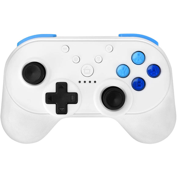 ALLCACA Wireless Game Controller Ergonomic Gaming Controllers Rechargeable Gamepads Portable Joypad with Dual Motor Vibration and NFC Function, White - ALLCACA