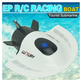 ALLCACA Remote Control Submarine Mini RC Submarine Boat Electric Model Submarine Toy for Kids, White - ALLCACA