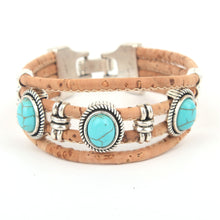 Handmade Cork Brecelet Summer accessories woman bracelet stones
