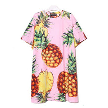 Midi Print Pineapple Dress
