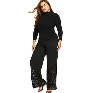 Plus Size XL -5XL  Lace  Pants