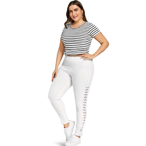 Plus Size XL-5XL Elastic Pants