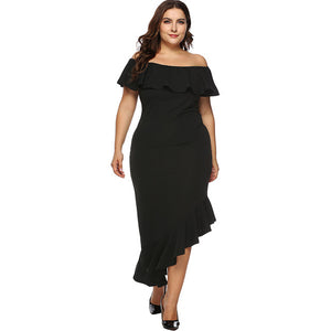 Cute Plus Size  XXXL Asymmetric Dress amazon ebay summer dress long dress black dress