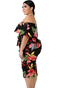 Plus SIze XL -5XL Dress With Flowers