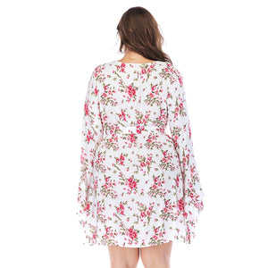 Plus size  3XL 4XL 5XL 6XL  Dress With Flowers