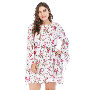 Cut Plus size  3XL 4XL 5XL 6XL Floral Dress Summer Dress e bay amazon mini dress