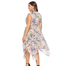 Plus size Summer Dress With Flowers