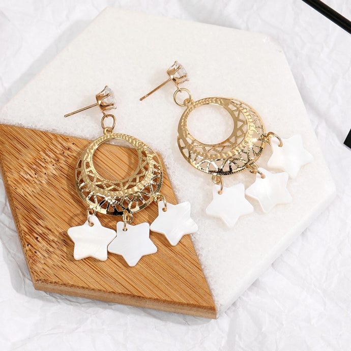 Ethnic  Metal Earrings boho earings summer star earrings