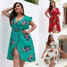 Curve womens Plus size Floral Dress With Ruffles  Large Medium plus A-Line Mesh And Pleated Dress Alternative.Patchwork.fashion boho hippie
