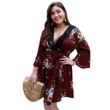Plus Size Floral  Beach Dress