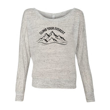 Load image into Gallery viewer, Climb Your Everest Off-Shoulder Womens Shirt