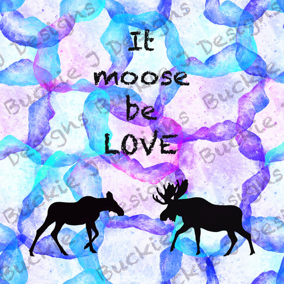 It moose be love panel White