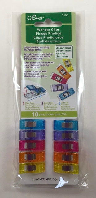 Wonder Clips Asst Colors 10pc