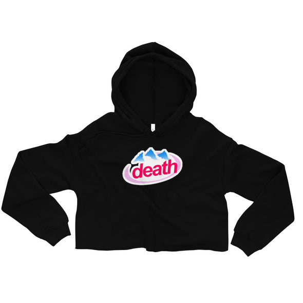 Death Crop top Hoodie - Only At Krooked Panda