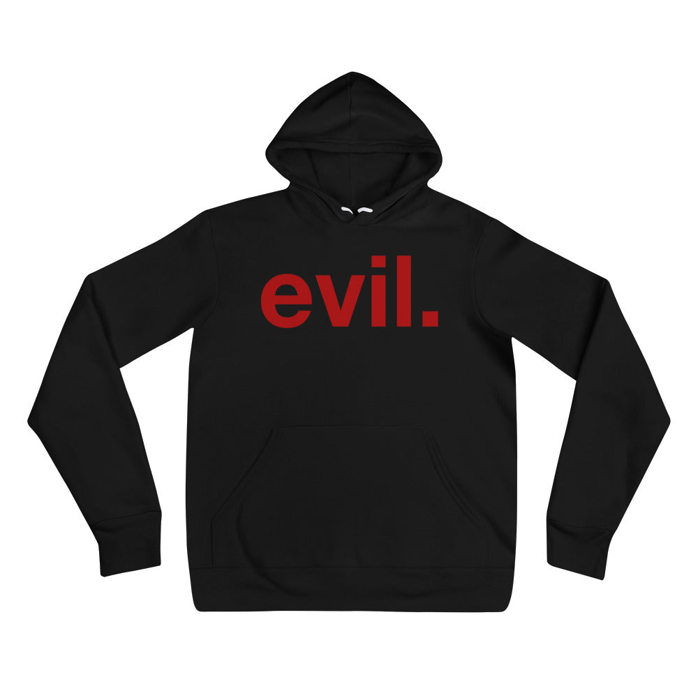 evil. Unisex hoodie - Only At Krooked Panda