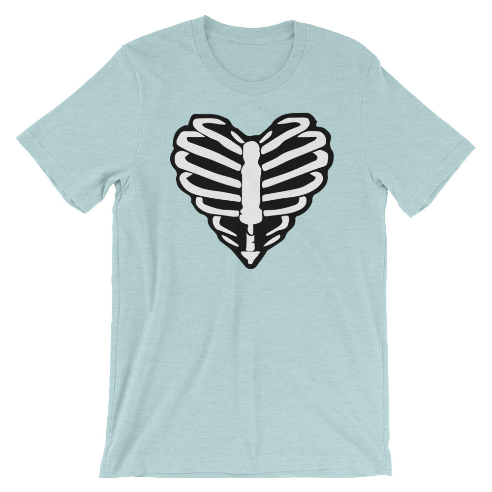 Skeleton Heart Unisex Tee - Only At Krooked Panda