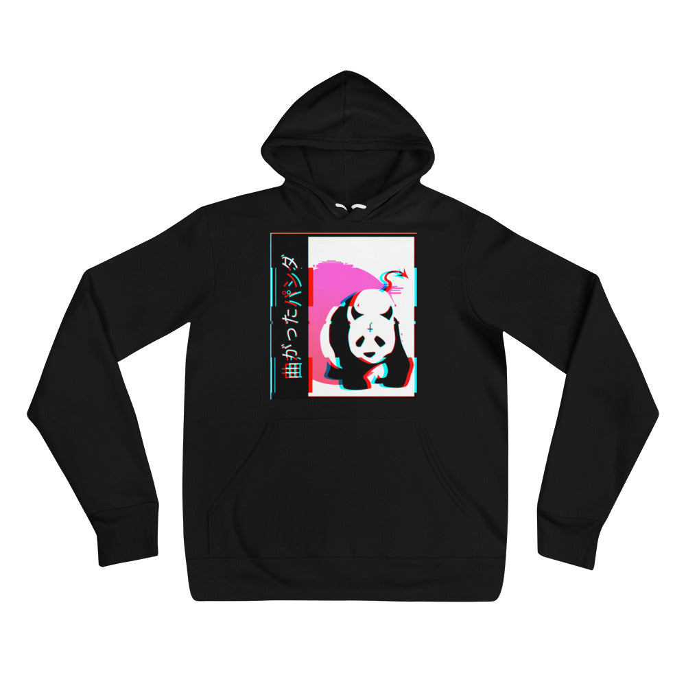 Japanese Devil Panda Glitched Unisex Hoodie - Only At Krooked Panda