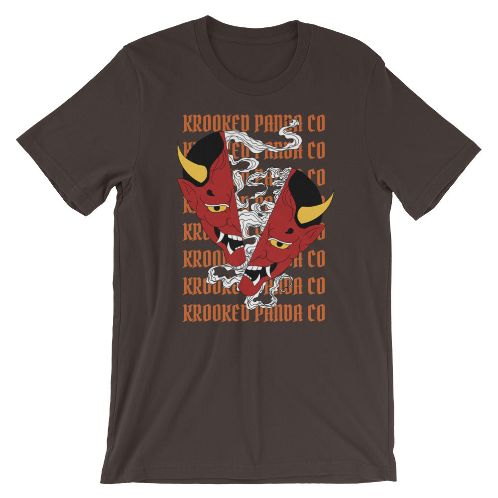 Split Oni Unisex Tee - Only At Krooked Panda