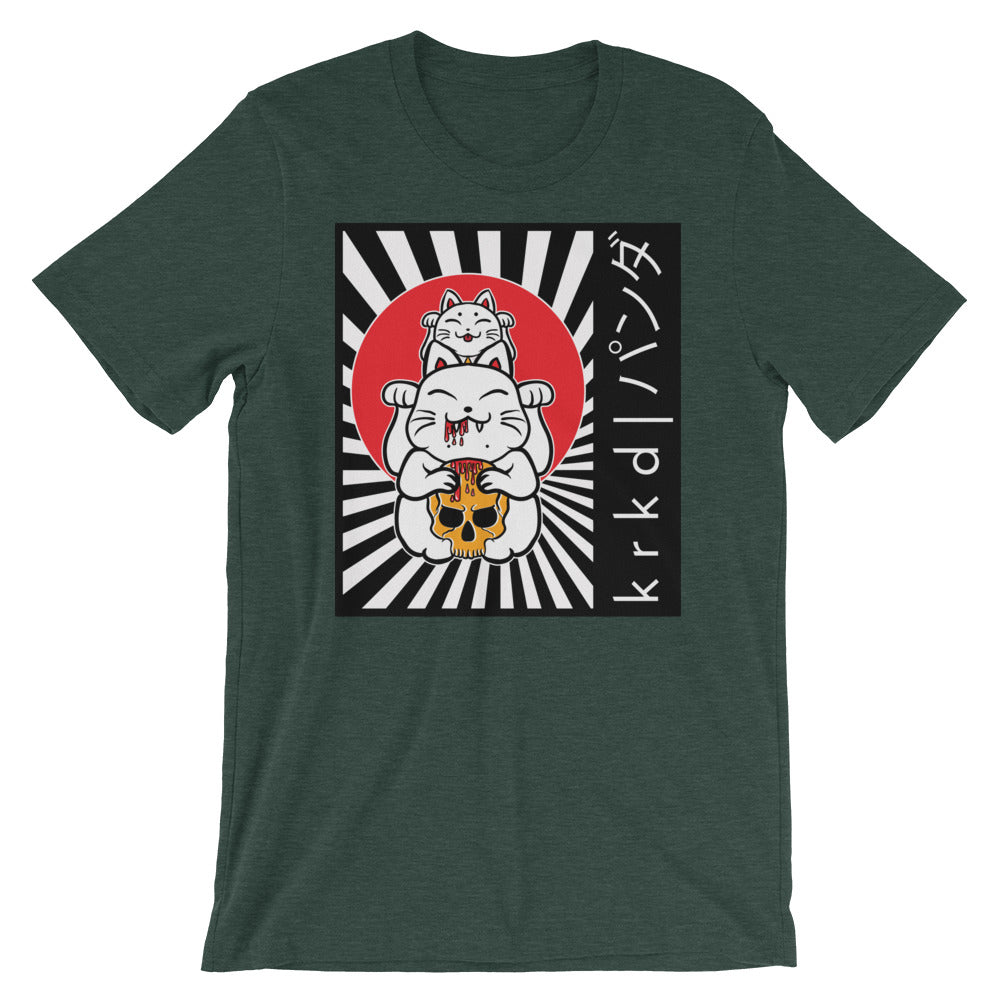 Evil Lucky Cat Unisex T-Shirt - Only At Krooked Panda