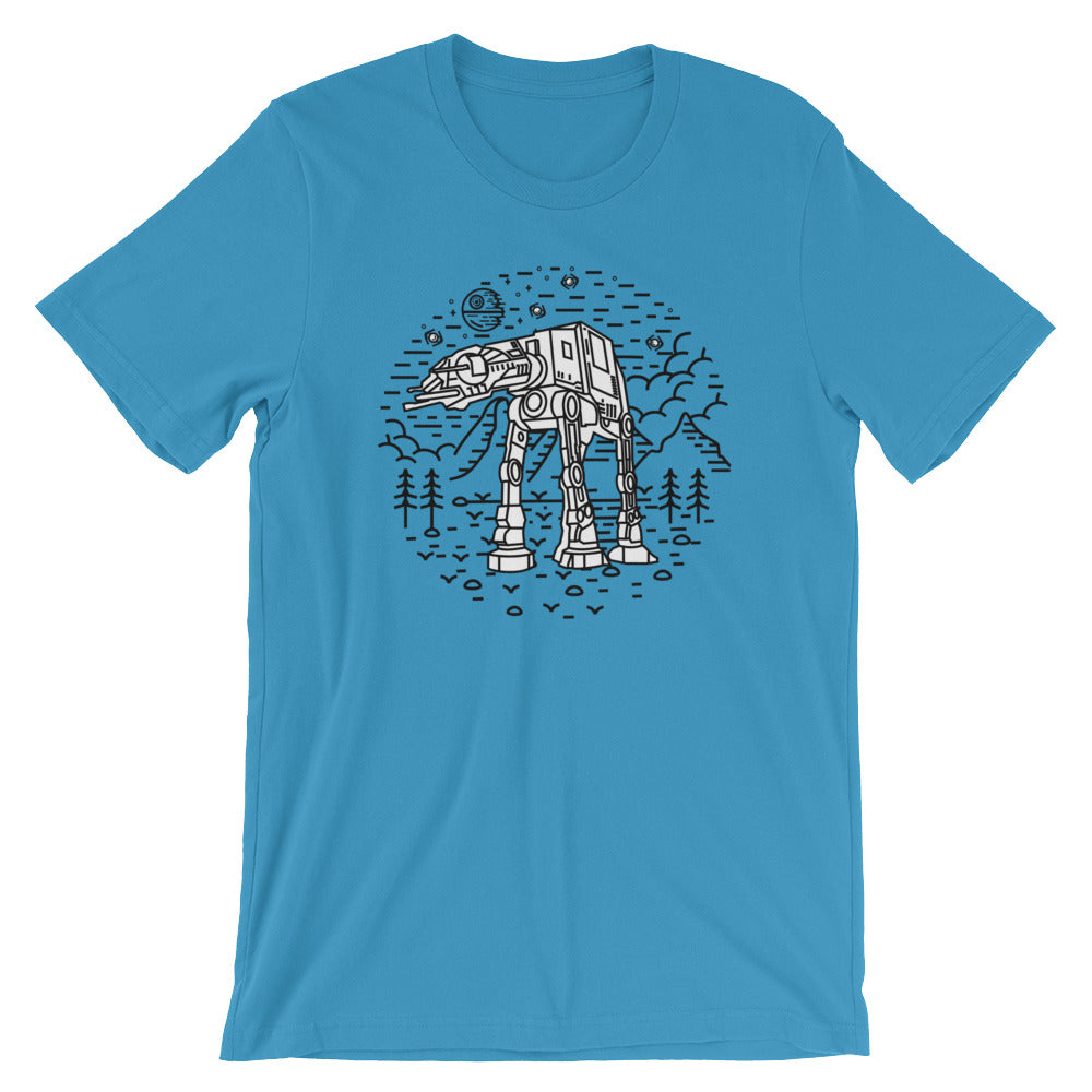 AT-AT Unisex T-Shirt - Only At Krooked Panda
