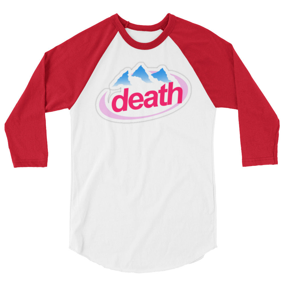 3/4 Sleeve Death Parody Raglan Tee - Only At Krooked Panda
