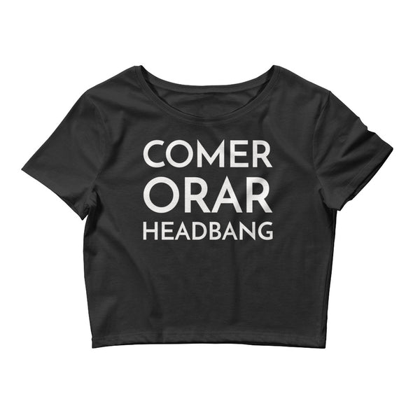 Comer Orar Headbang Crop Tee - Only At Krooked Panda