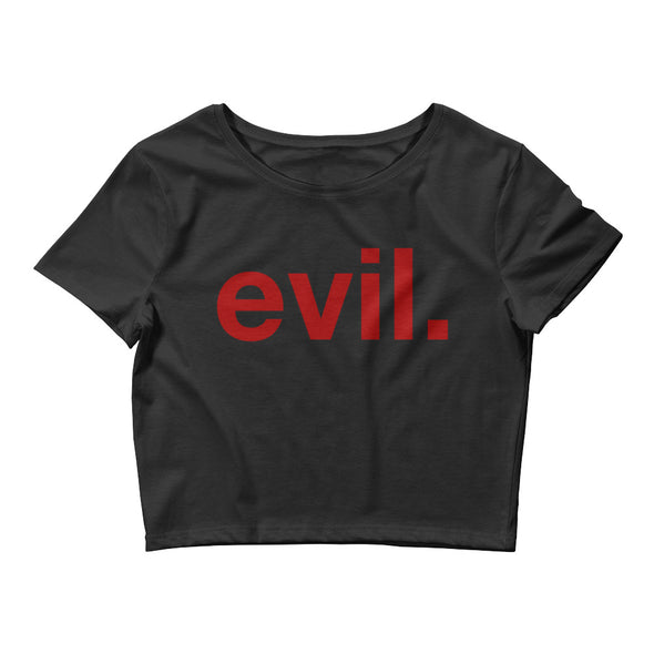 evil. Crop Tee - Only At Krooked Panda