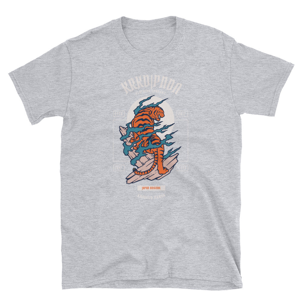 KRKD PNDA Japanese Tiger Unisex T-Shirt - Only At Krooked Panda