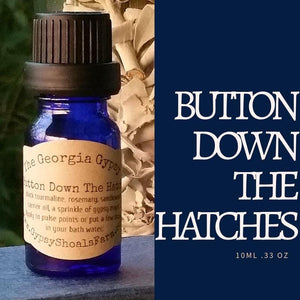 Button Down The Hatches georgia gypsy crystal infused energy reiki charged supportive essential oil blend