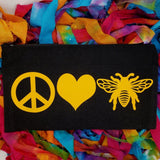 5 x 8 beekeeping bag honeybee cosmetic bag pencil pouch canvas