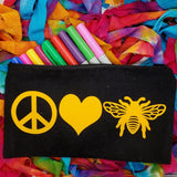 bee theme cosmetic bag canvas pencil pouch beekeeper gifts