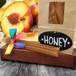 gypsy shoals farm peach infused honey sticks