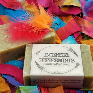 peppermint handcrafted cold press soap gypsy shoals farm artisan soap