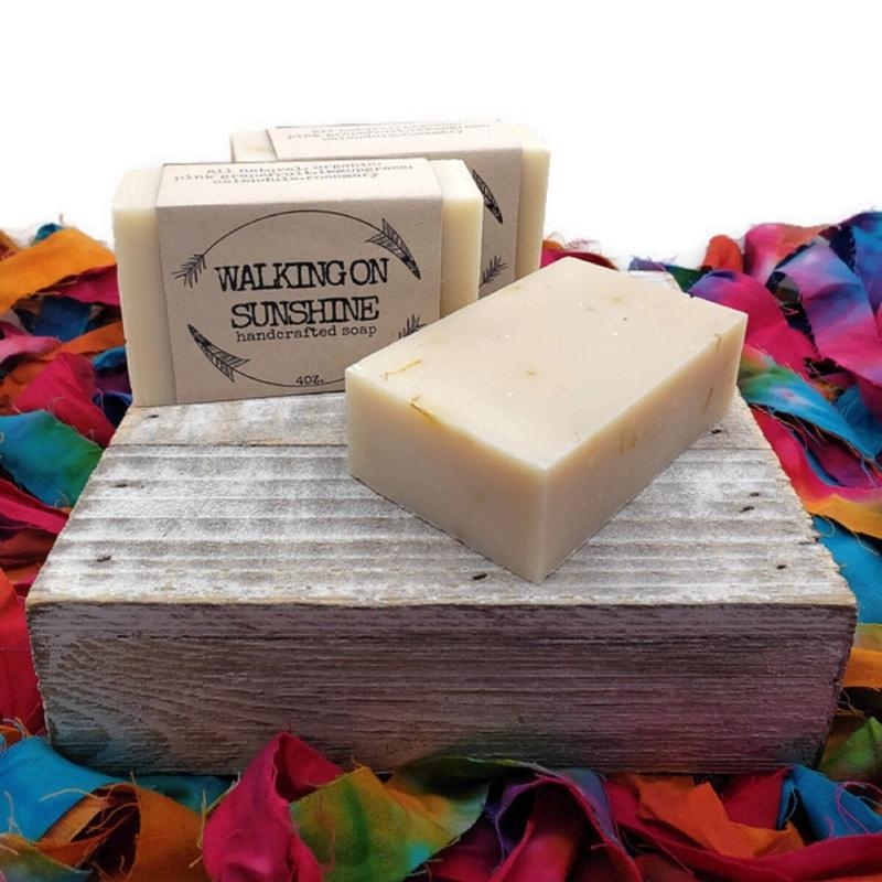 pink grapefruit handcrafted cold pressed soap