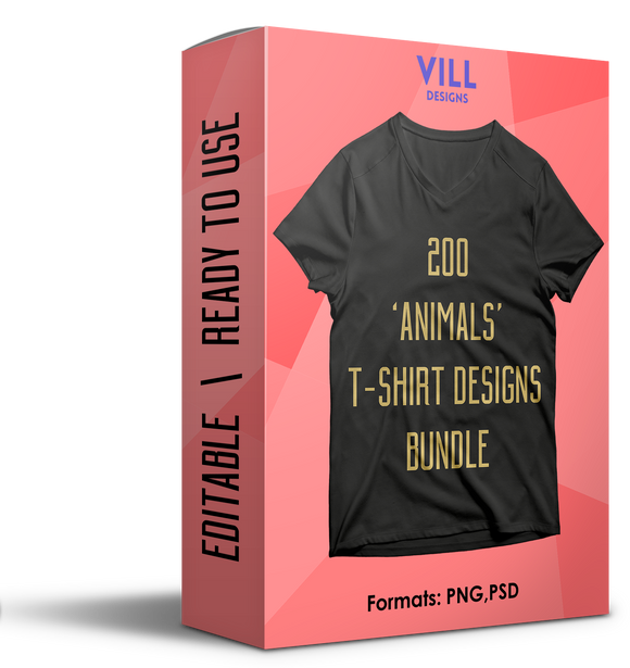 ANIMALS BUNDLE - 200 DESIGNS