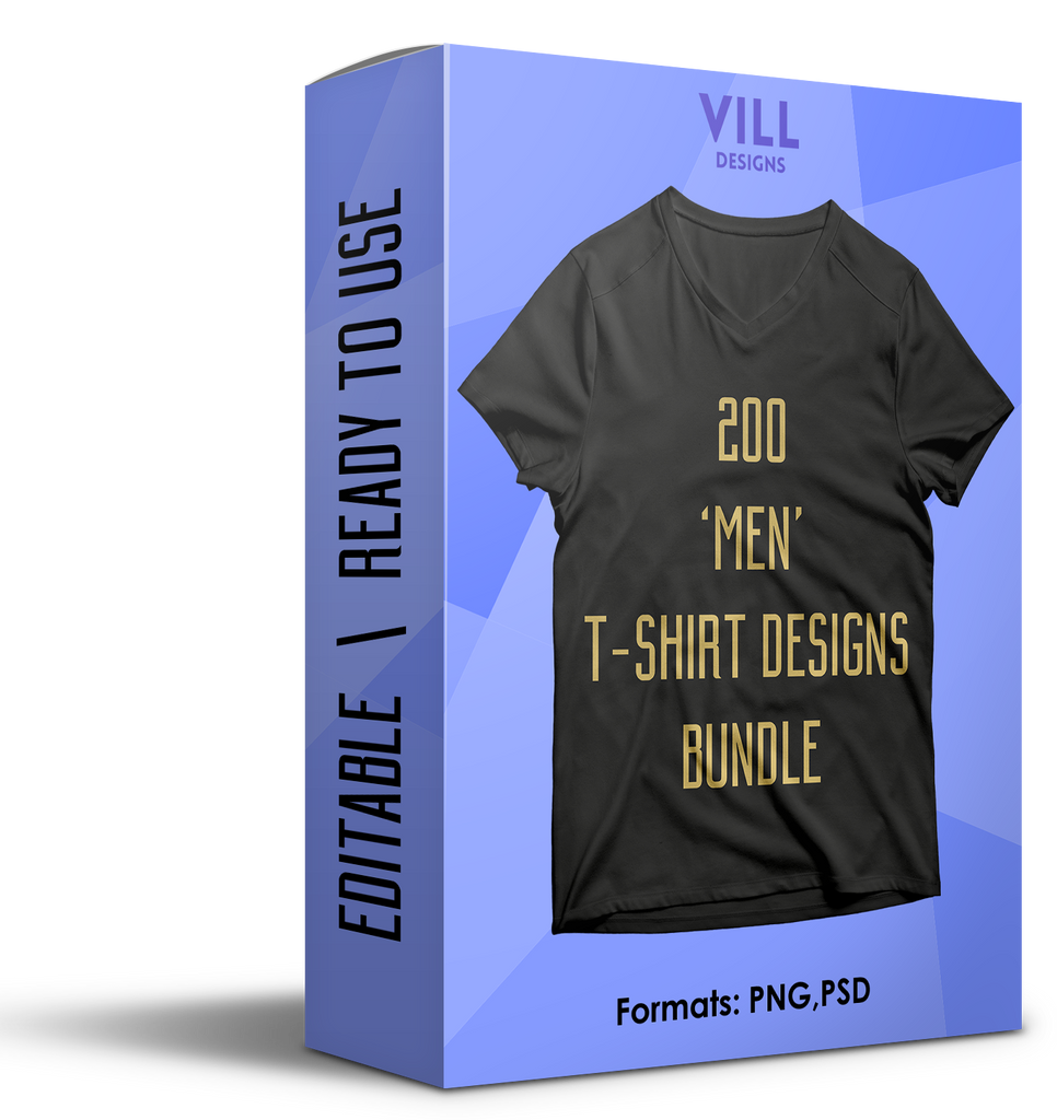 MEN BUNDLE - 200 DESIGNS