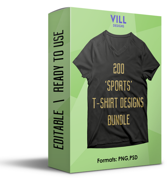 SPORTS BUNDLE - 200 DESIGNS