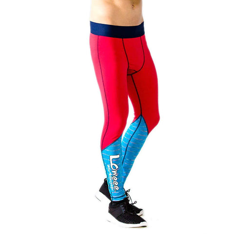 Lomeee.® Fit Tights One Red/ Blue