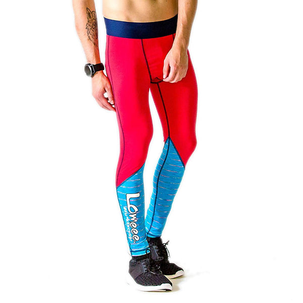Lomeee.® Tights ONE Red-Aqua