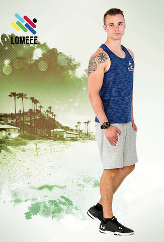 Lomeee.® Fit Tank Top One Navy