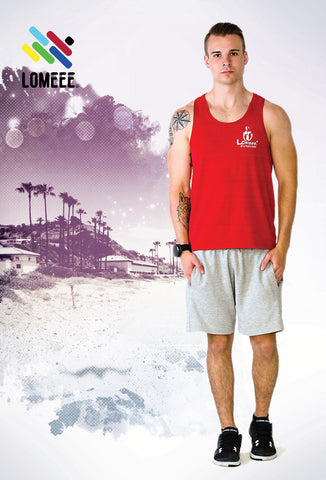 Lomeee.® Fit Tank Top One Red