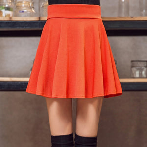 Size 5xl High Pleated Short Skirt