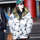 Hooded Jackets Warm Both Camouflage