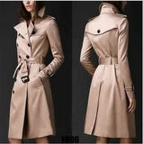 Double-breasted Slim Long Coat