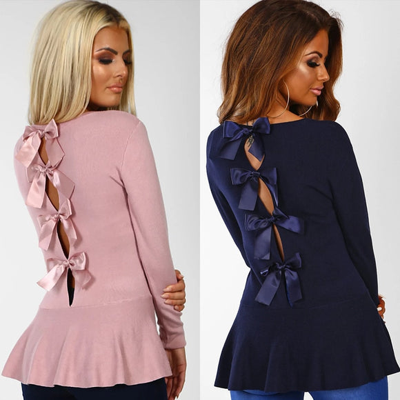 Laced Up Back Blouse