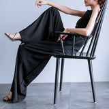 Black Trousers Pants Elegant Jumpsuit